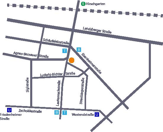 Alexandertechnik Institut Lageplan